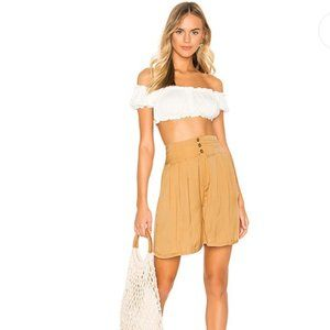 Free People Brittany Long Beach Short in Gold M